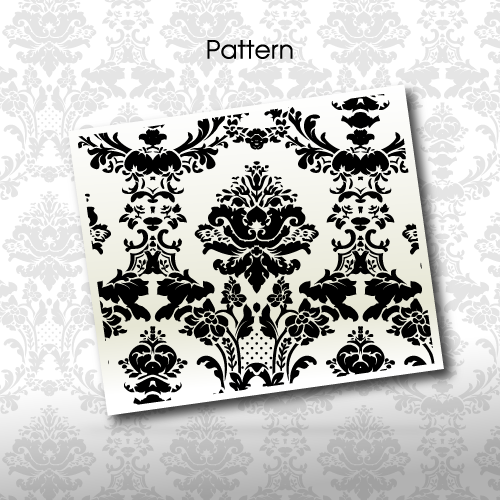 Baroque floral pattern 3 by Giboo