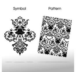 Baroque floral vector pattern by Giboo