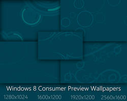 Windows 8 Consumer Preview Start Blue Wallpapers by Brebenel-Silviu
