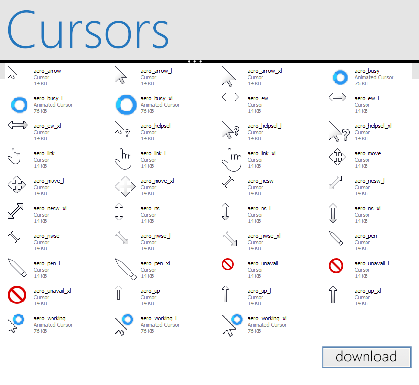 Windows 8 RP Cursors by Brebenel-Silviu