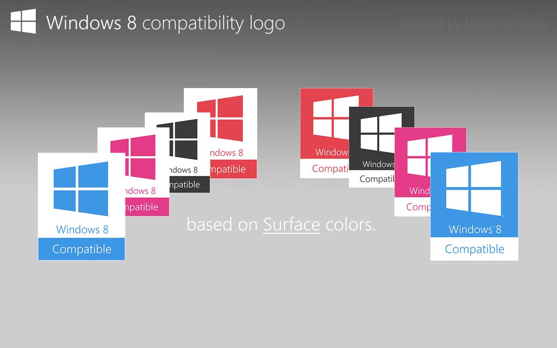 W8 Compatibility Logo : Colours by Brebenel-Silviu