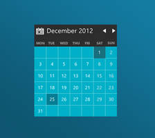 Modern Calendar - XWidget by Brebenel-Silviu