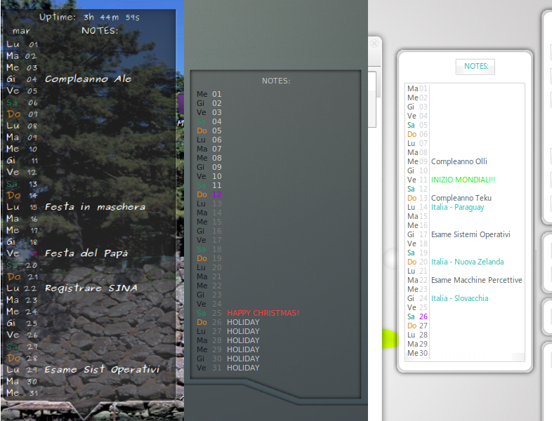 Conky Calendar Python Script by alecive