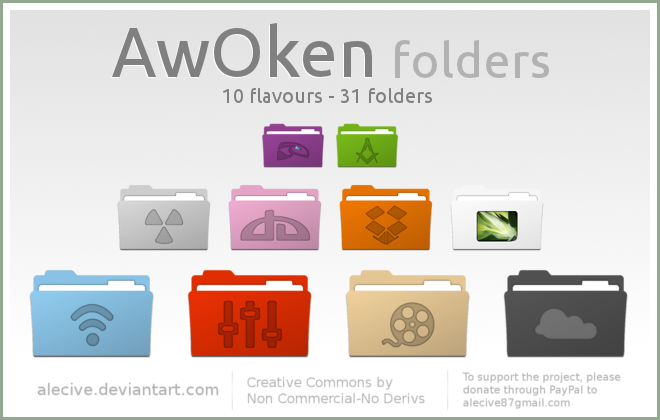 AwOken folders by alecive