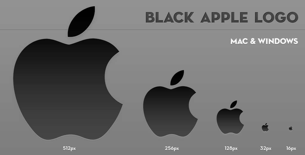 apple logo white on black. black apple logo by larzon83 white on
