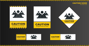 Caution signs - programmers at work