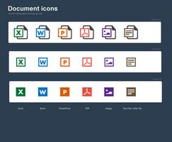 Free document icons