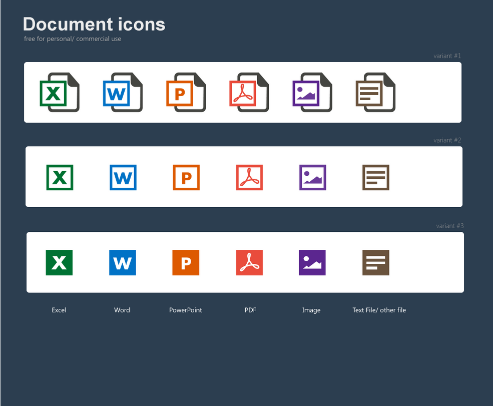 Free document icons by jozef89