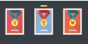 Flat medal awards