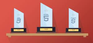 Flat crystal web awards