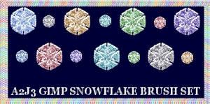 A2j3 Snowflake Gimp Gih Brush