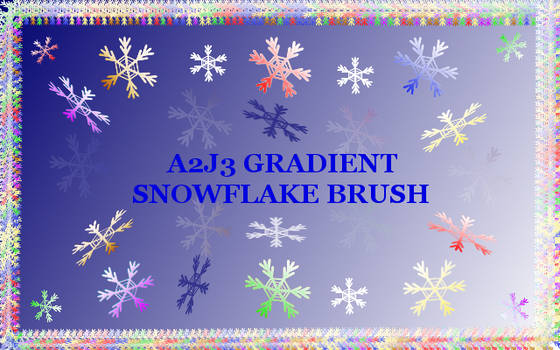 A2j3 Gradient Snowflake Brushes