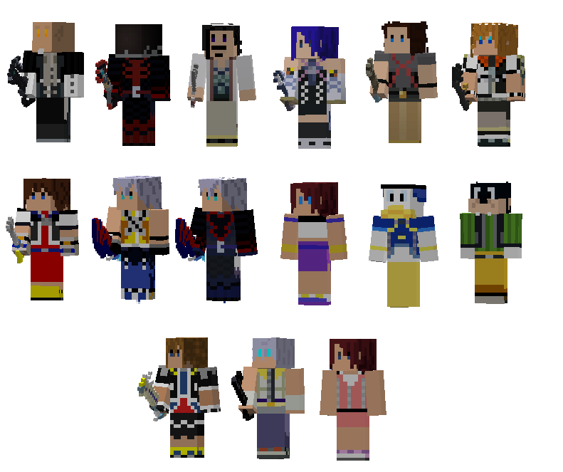 Kingdom Hearts Skins by baronvonmuffin