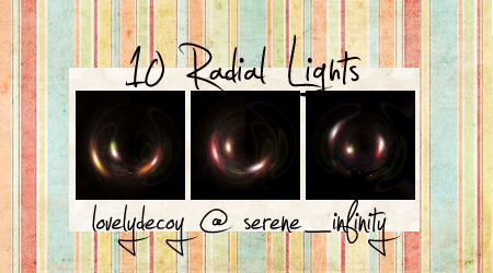 10 Radial Lights by cabaretaffair