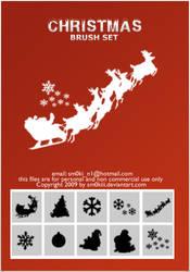 Christmas BRUSH SET by sm0kiii