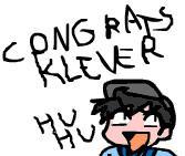 Congratulations Klever