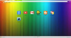 Rainbow Google Chrome Theme