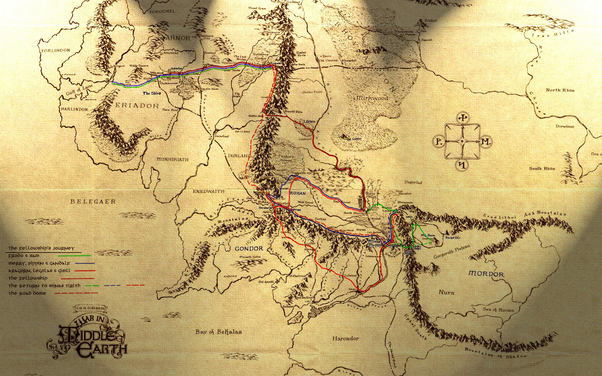Lord of the Rings The Lord of the Rings – Lord of the Rings Map of Middle Earth