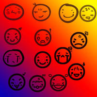 face stamps by ShamanQueen1994