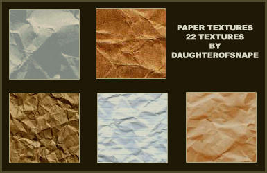 Paper Textures Set 1 by daughterofsnape