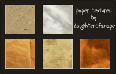 Paper Textures Set 2 by daughterofsnape