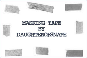 Masking Tape by daughterofsnape