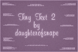 Tiny Text 2 by daughterofsnape