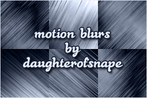 Motion Blur Brushes by daughterofsnape