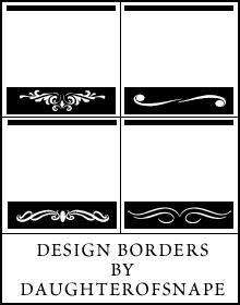 Design Borders by daughterofsnape