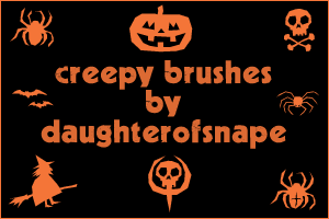 Creepy Brushes by daughterofsnape
