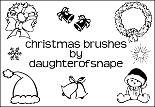 Christmas Brushes by daughterofsnape