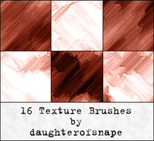 16 Texture Brushes by daughterofsnape