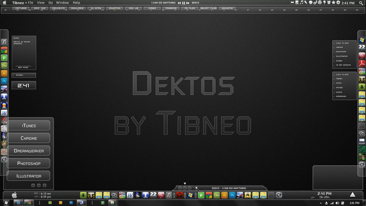 Dektos for Rainmeter by Tibneo