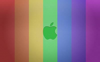 Apple Bold in ROYGBIV