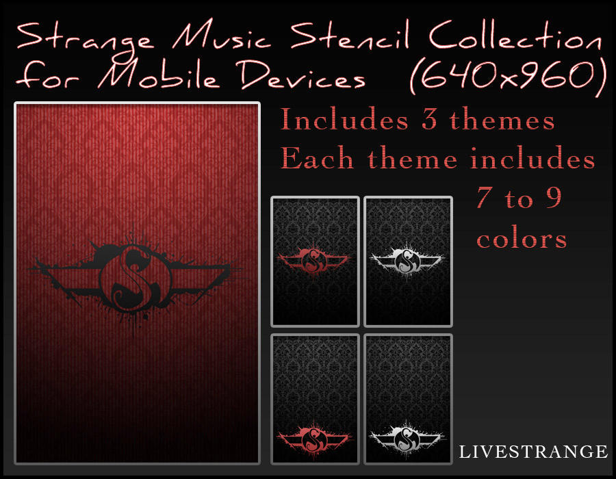 Strange Music Logo Wallpaper: Strange Music Stencil Collection For Mobile Device By