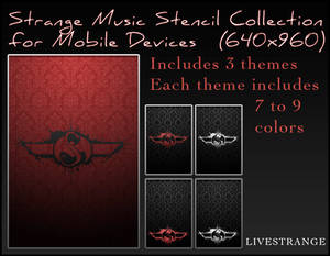 Strange Music Stencil Collection for Mobile Device