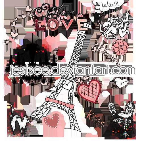 Png Pack Cute Paris by jestsee