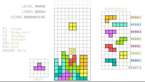 +mondrian game+ ...tetris