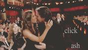 Christian and Sibi kiss Oscar
