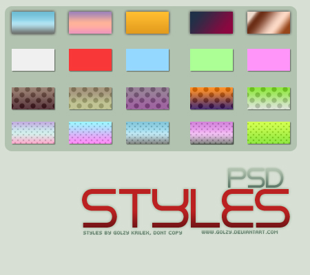 Photoshop Styles by golzy