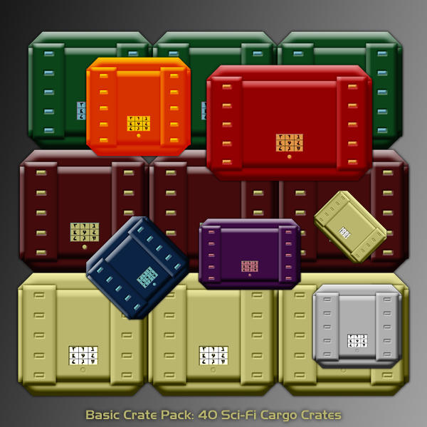 Basic Crate Pack - Maptool by Fallensbane