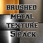 Brushed Metal Brush Texture 5 Pack by Gildedapp5