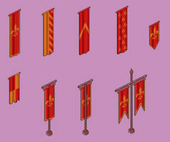 Castle Banner Assortment by Kingfisher-Gryphon