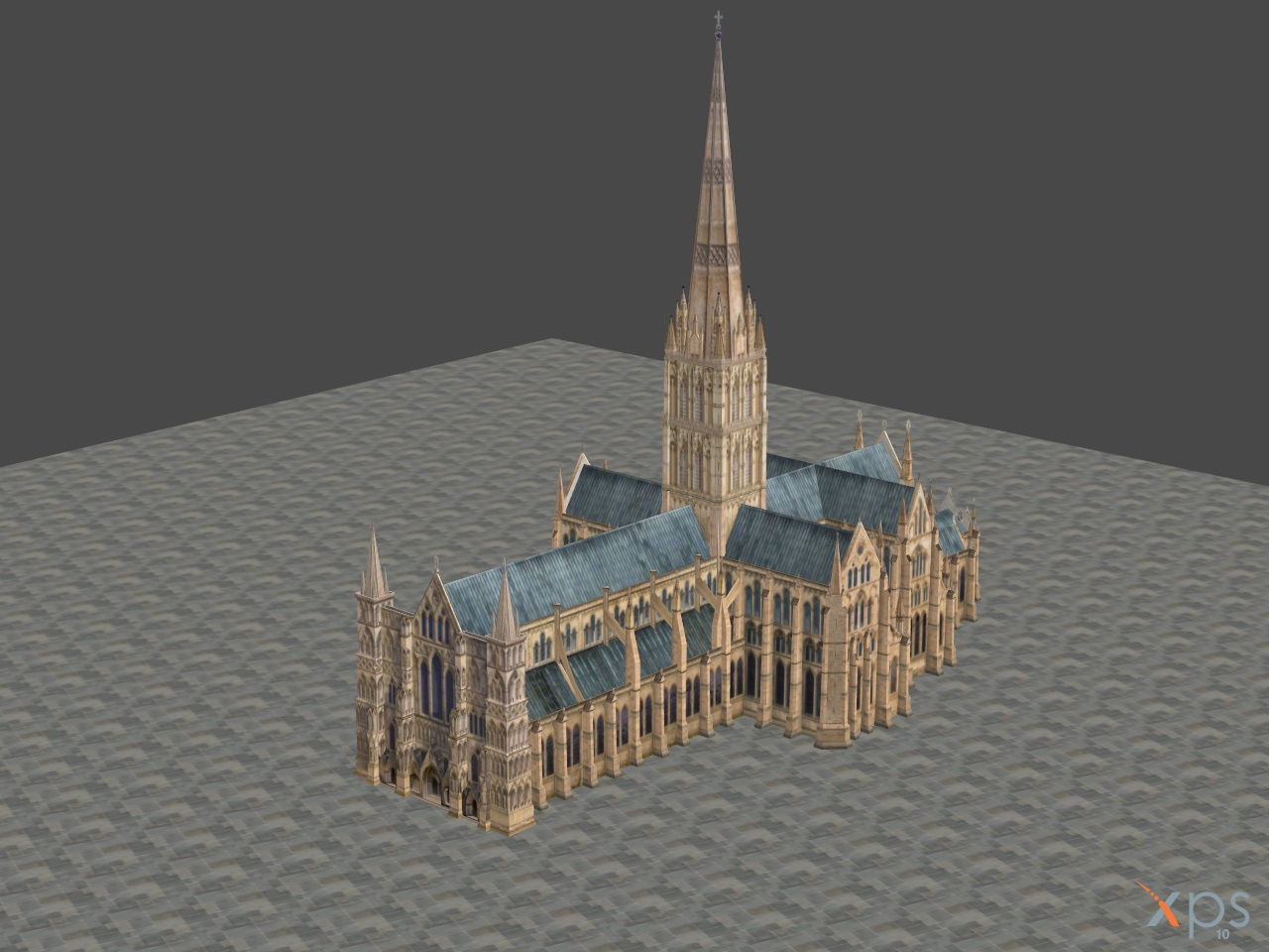 XNALARA XPS Model Release! Salsbury Cathedral by Fuzzy-Moose