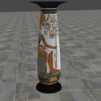 XNALara Release! Ancient Egyptian Column by Fuzzy-Moose