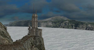 XNALara XPS Release - Ruined Tower by Fuzzy-Moose