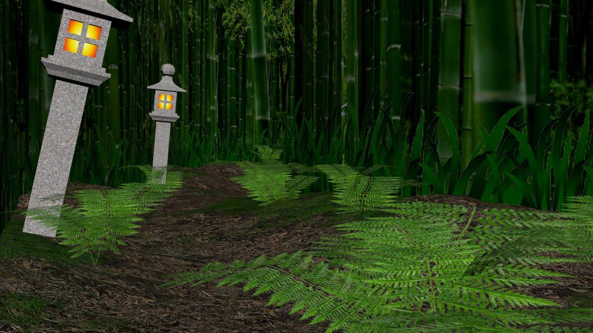 XPS Release! Bamboo Forest Environment Model by Merytaten-tasherit