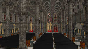 Cathedral Scenery - Space Hulk: Deathwing by Fuzzy-Moose