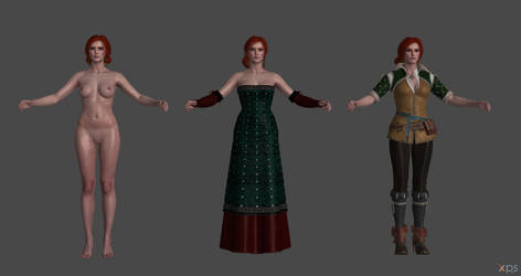 The Witcher 3 - Triss Merigold for XPS by Fuzzy-Moose