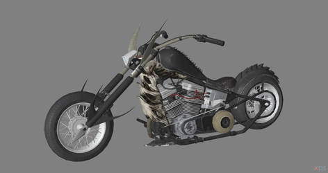 Marvel vs. Capcom - Ghost Rider Bike for XPS by Fuzzy-Moose